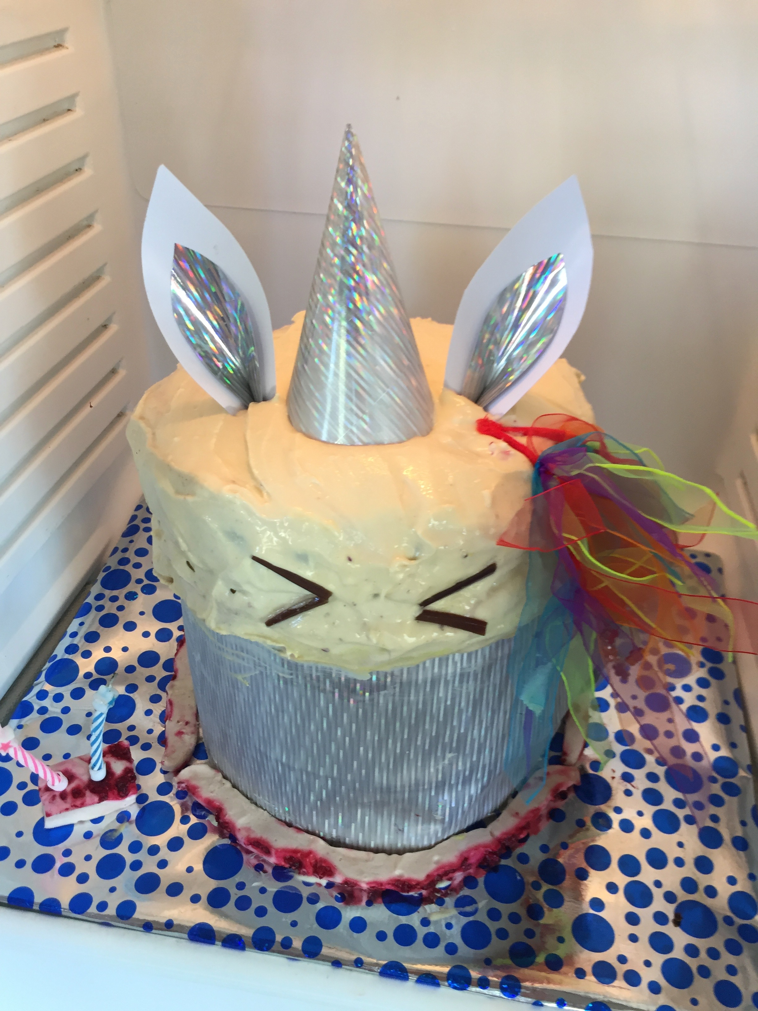 Rainbow Unicorn Birthday Cake
